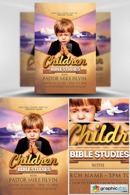 Bible Studies Flyer Template Free Download Vector Stock Image - Bible study flyer template free