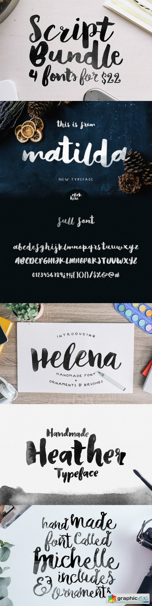 Script Bundle 4 Fonts