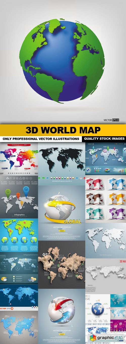 3d world map 22 vector free download vector stock image 3d world map 22 vector gumiabroncs Image collections