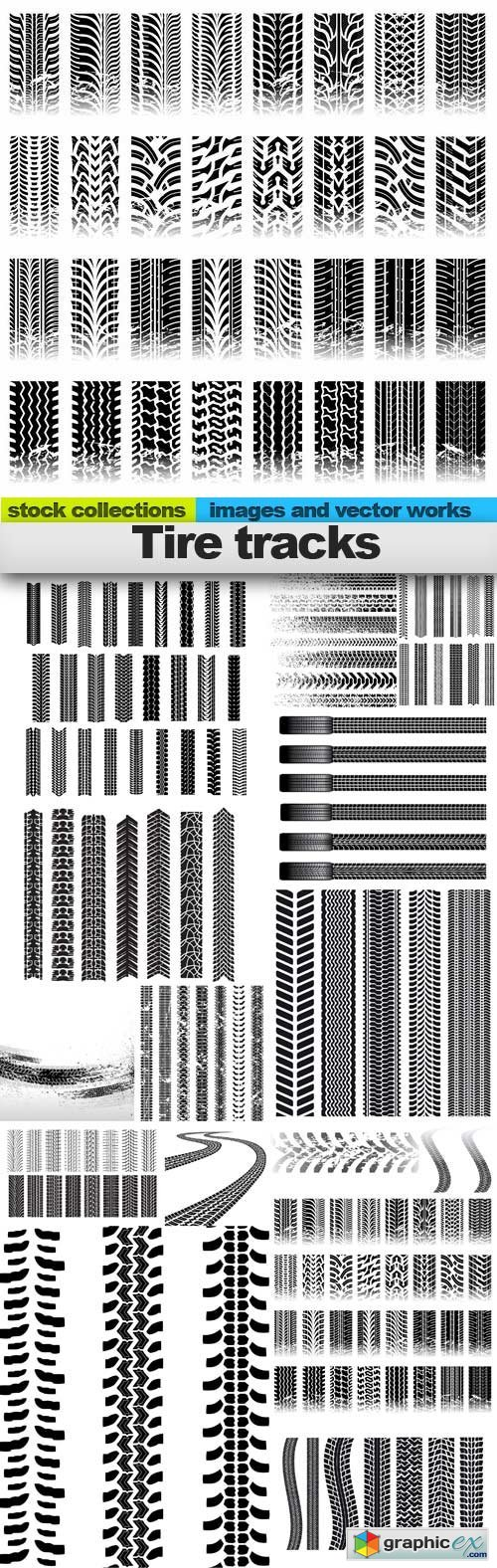 Tire tracks, 15 x EPS