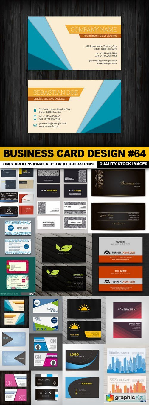 Business Card Design #64 - 20 Vector