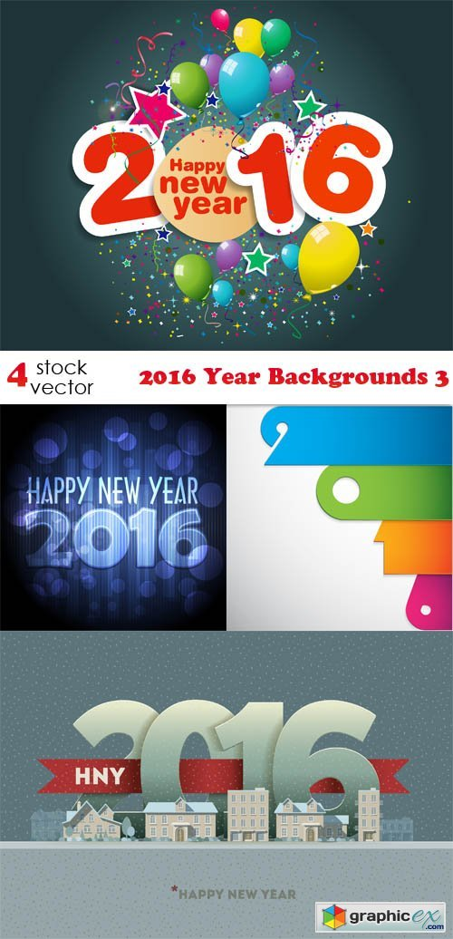 Vectors - 2016 Year Backgrounds 3