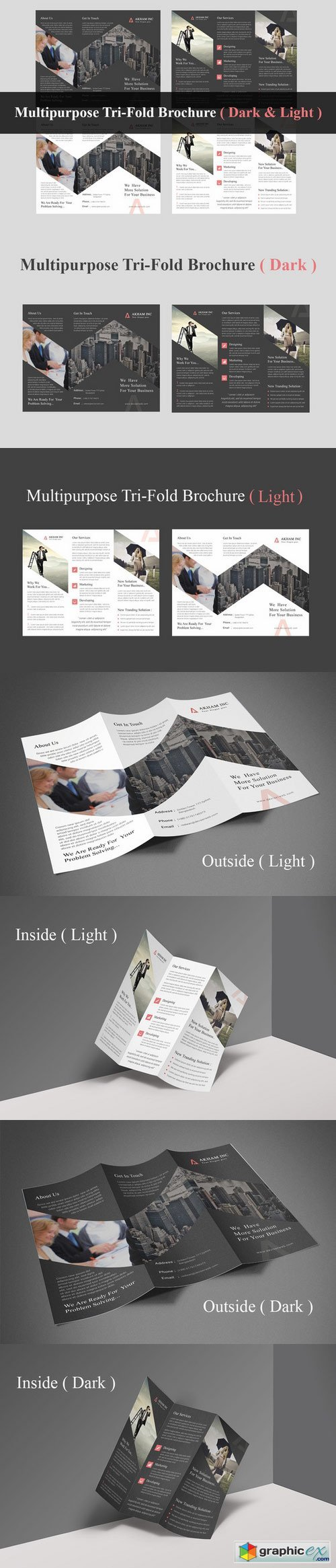 Multipurpose Tri-Fold Brochure 406449