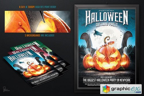 Halloween Party Flyer template - 95637