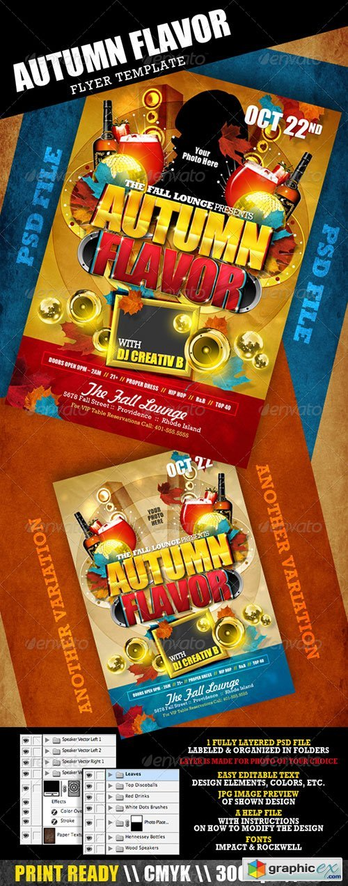 Autumn Flavor Flyer Template