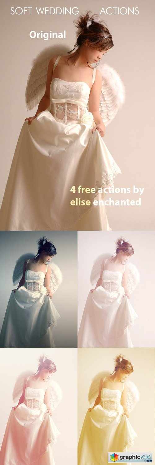 Soft Wedding Actions for Photoshop