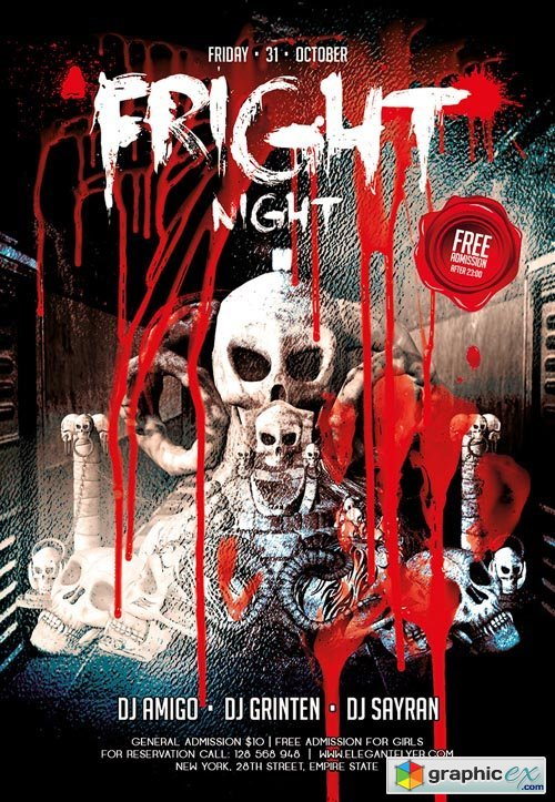 Fright Night Flyer Template + Facebook Cover