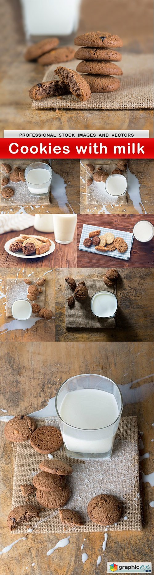 Cookies with milk - 8 UHQ JPEG