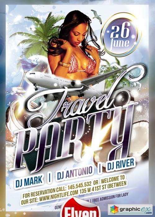 Travel Party Flyer Template