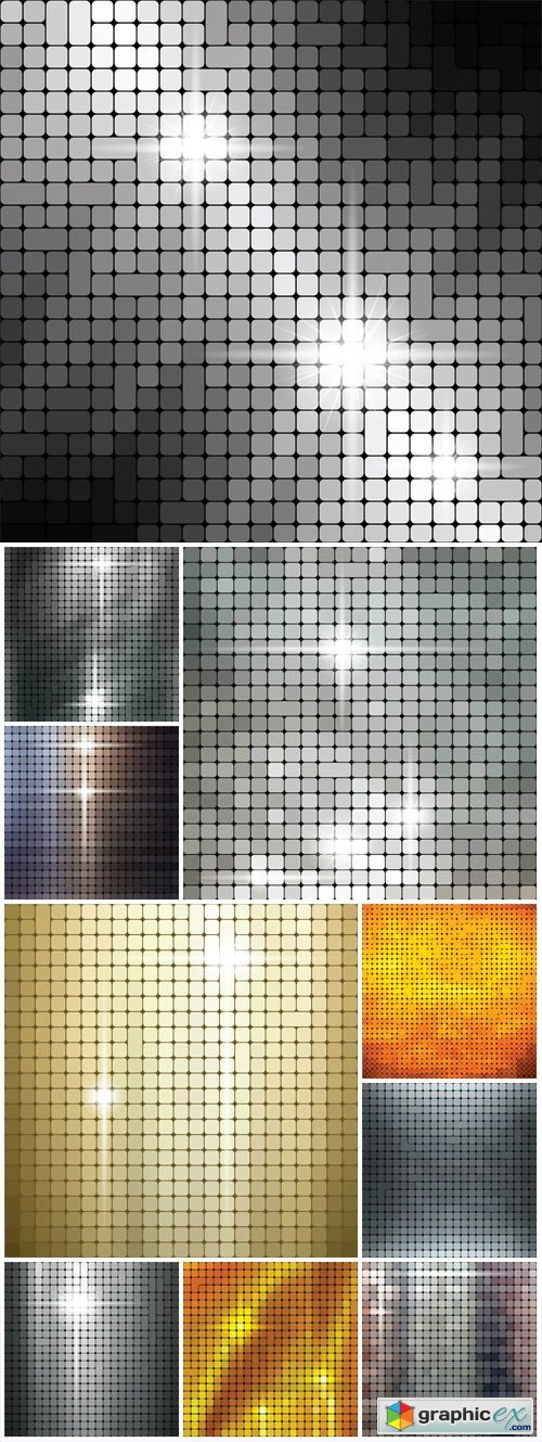 Shiny metallic texture pattern vector background