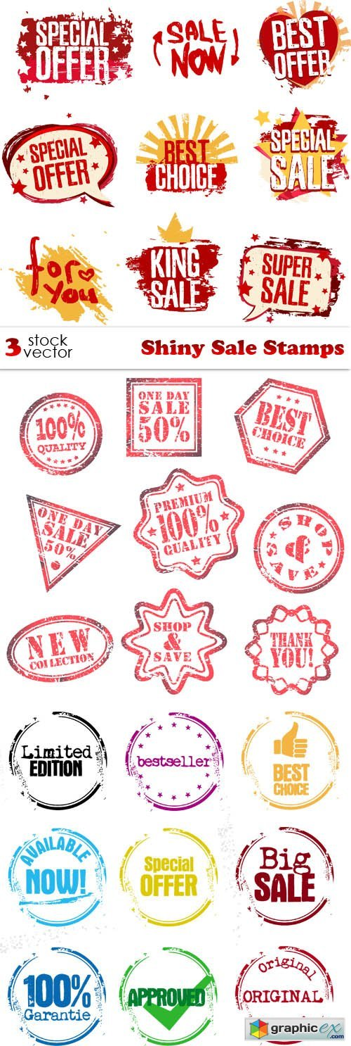 Vectors - Shiny Sale Stamps