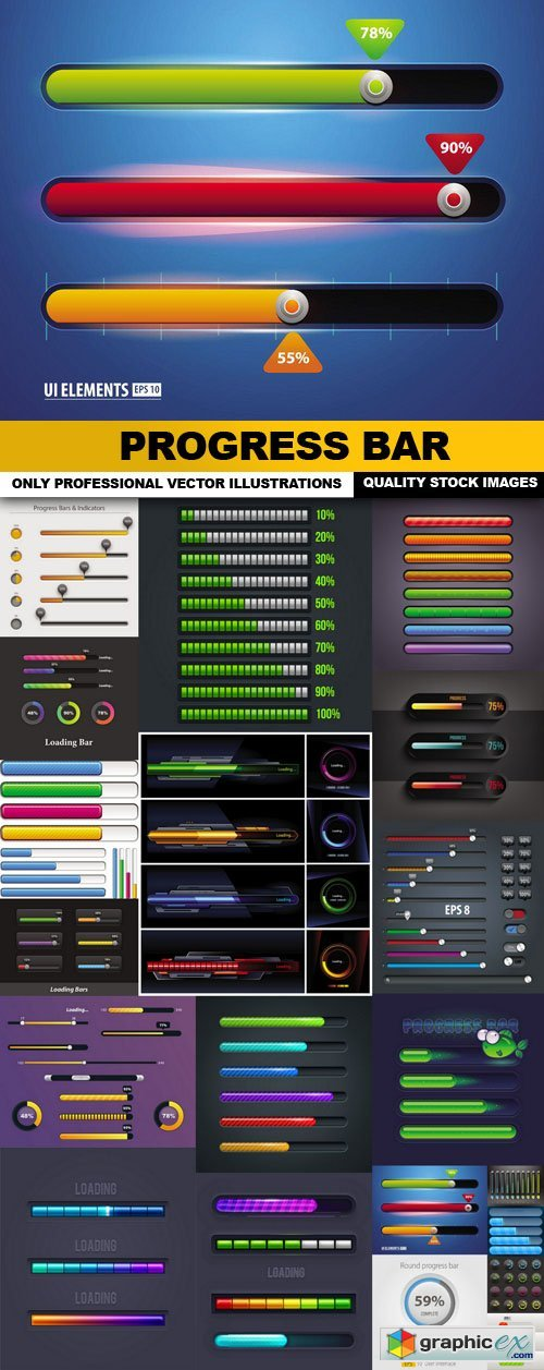 Progress Bar - 20 Vector