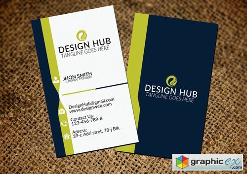 Attractive Vertical Business Card
