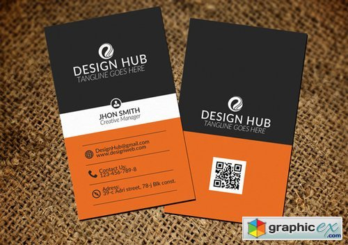 Corporate Vertical Business Card - 391656