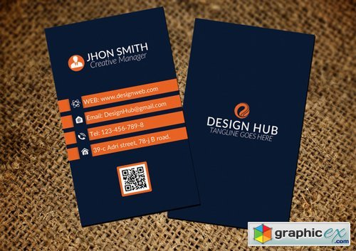 Stylish Vertical Business Card - 391653