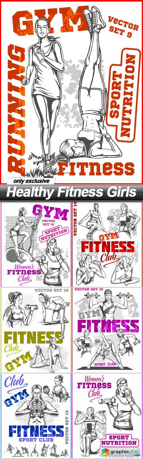 Healthy Fitness Girls - 7 EPS