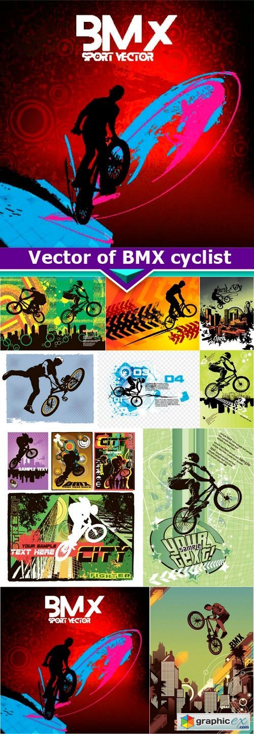 Vector free download vector stock image photoshop icon vector of bmx cyclist 10x eps gumiabroncs Choice Image