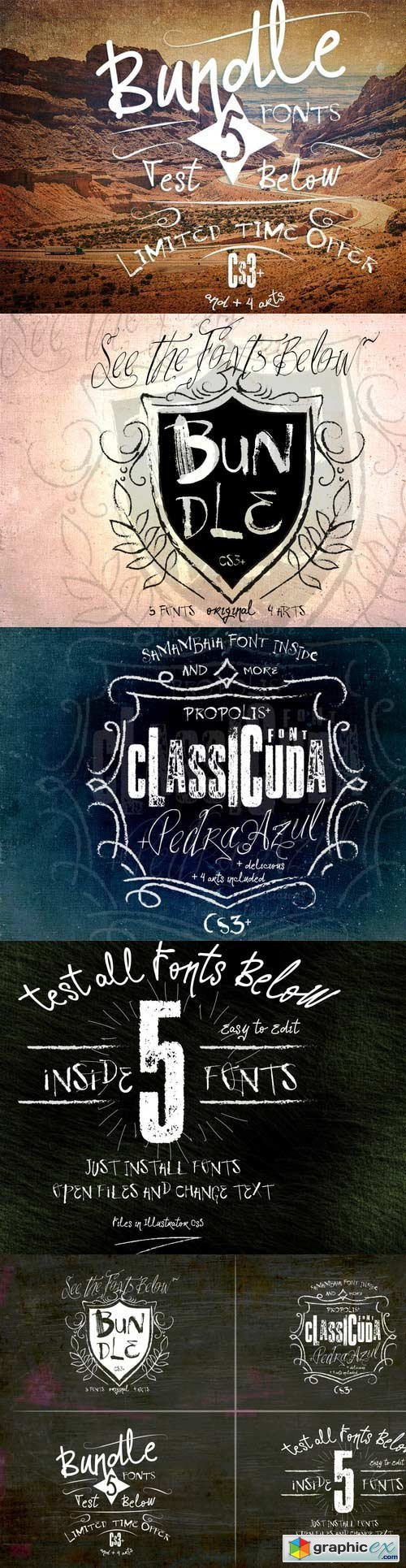 BUNDLE FONTS 133421