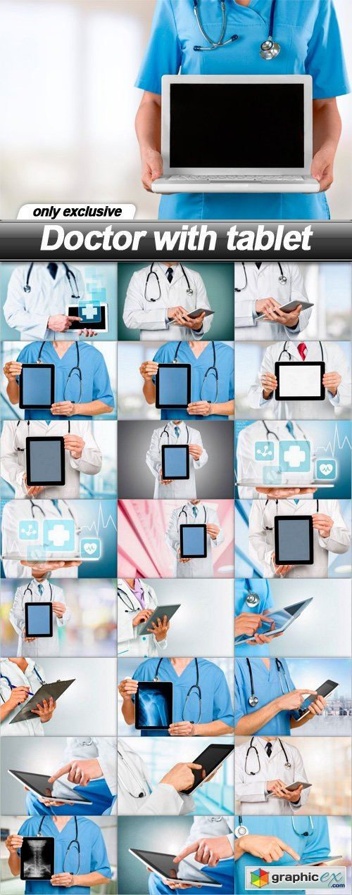 Doctor with tablet - 25 UHQ JPEG