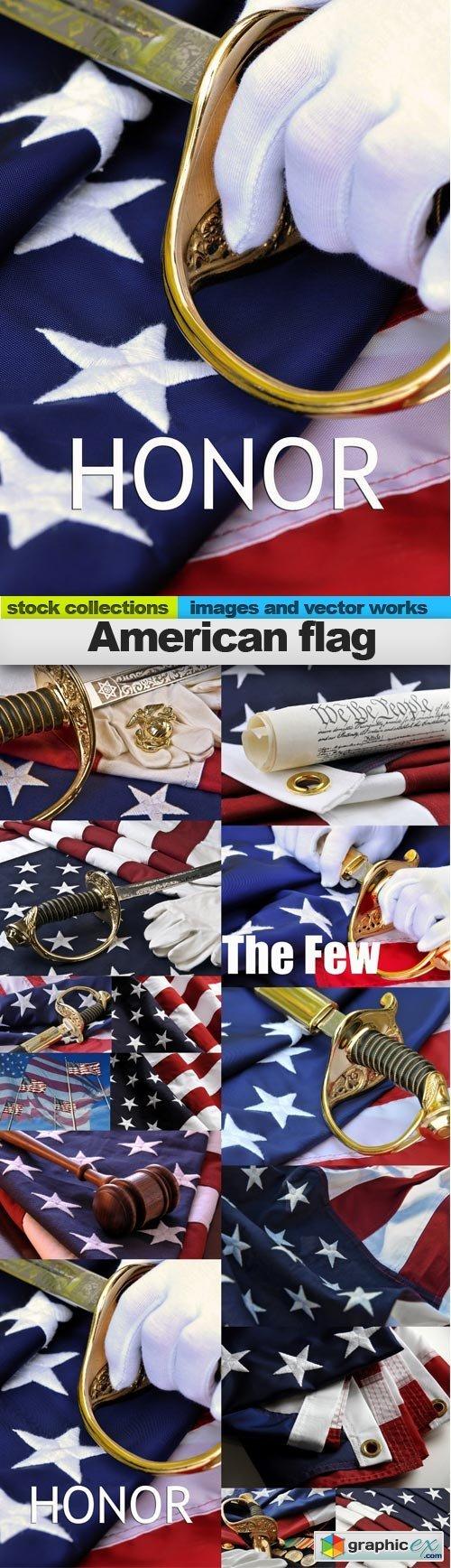 American flag, 15 x UHQ JPEG