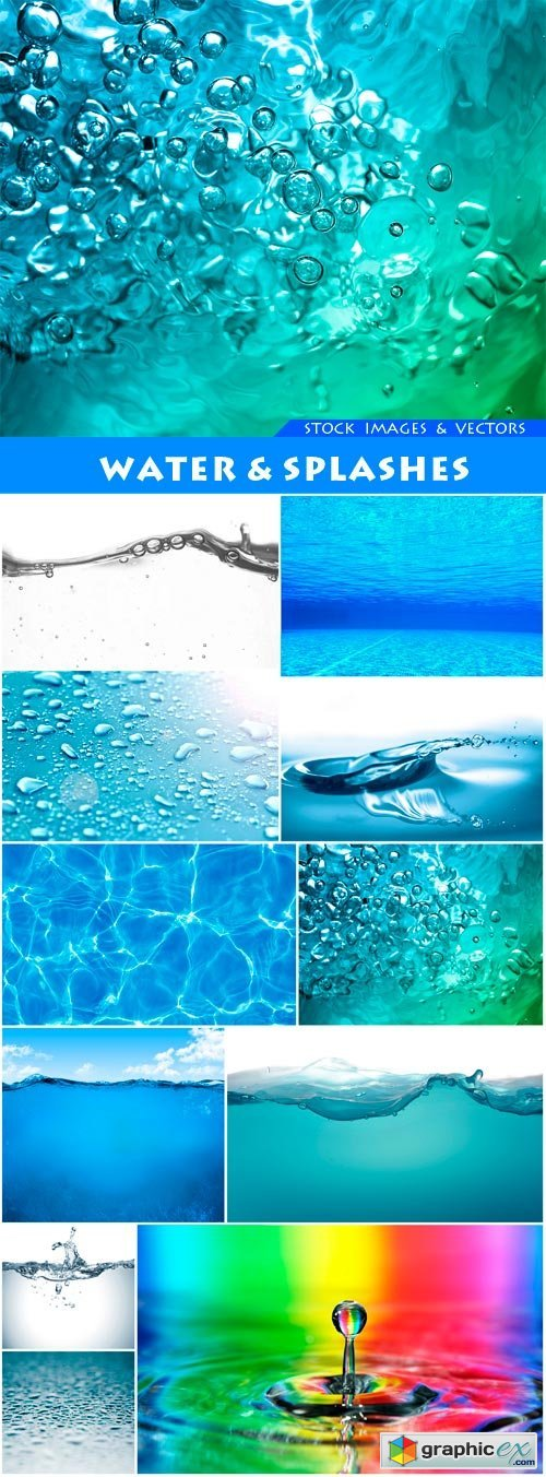 Water & Splashes 13X JPEG