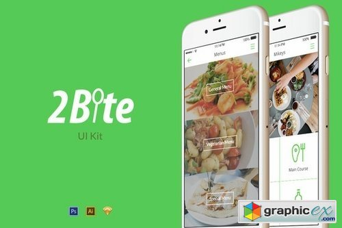 2Bite UI Kit - 30 Screens