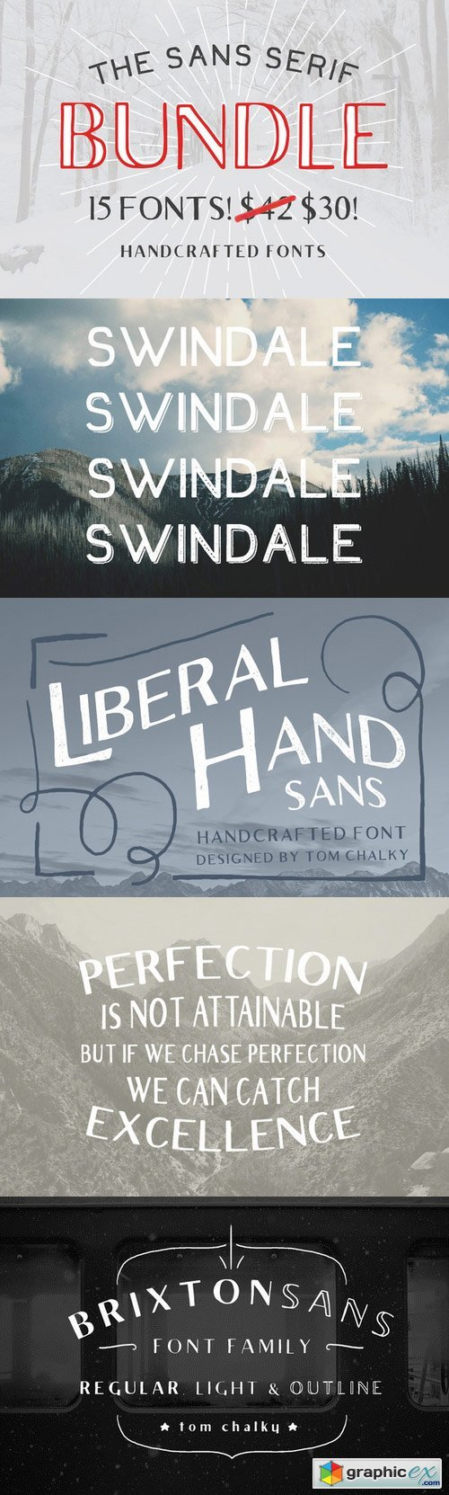 The Sans Serif Bundle - 15 Fonts!