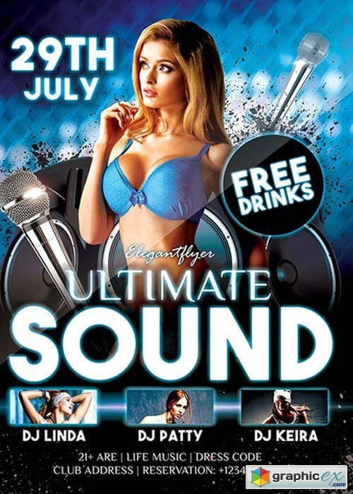 Ultimate Sound Flyer Template + Facebook Cover