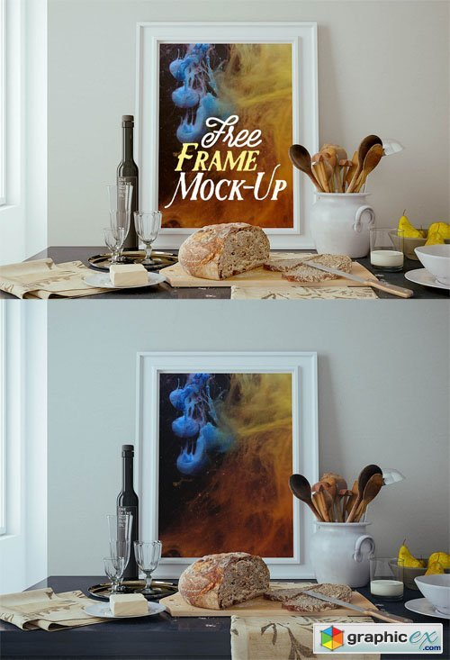 Kitchen Workspace Frame Mock-up