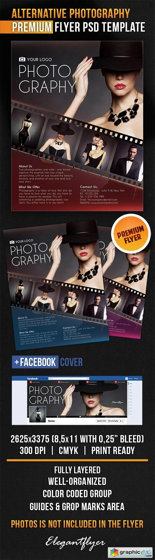Alternative Photography Flyer PSD Template + Facebook Cover