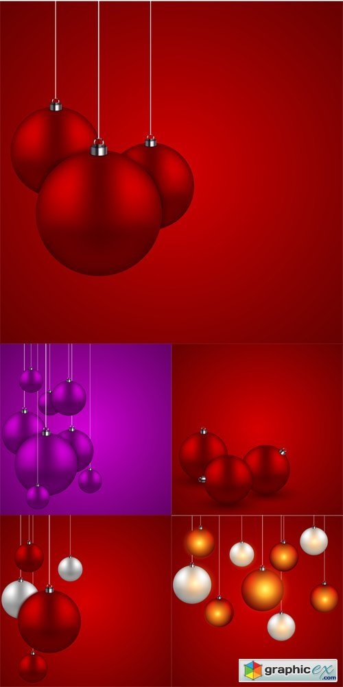 New Year Backgrounds with Balls