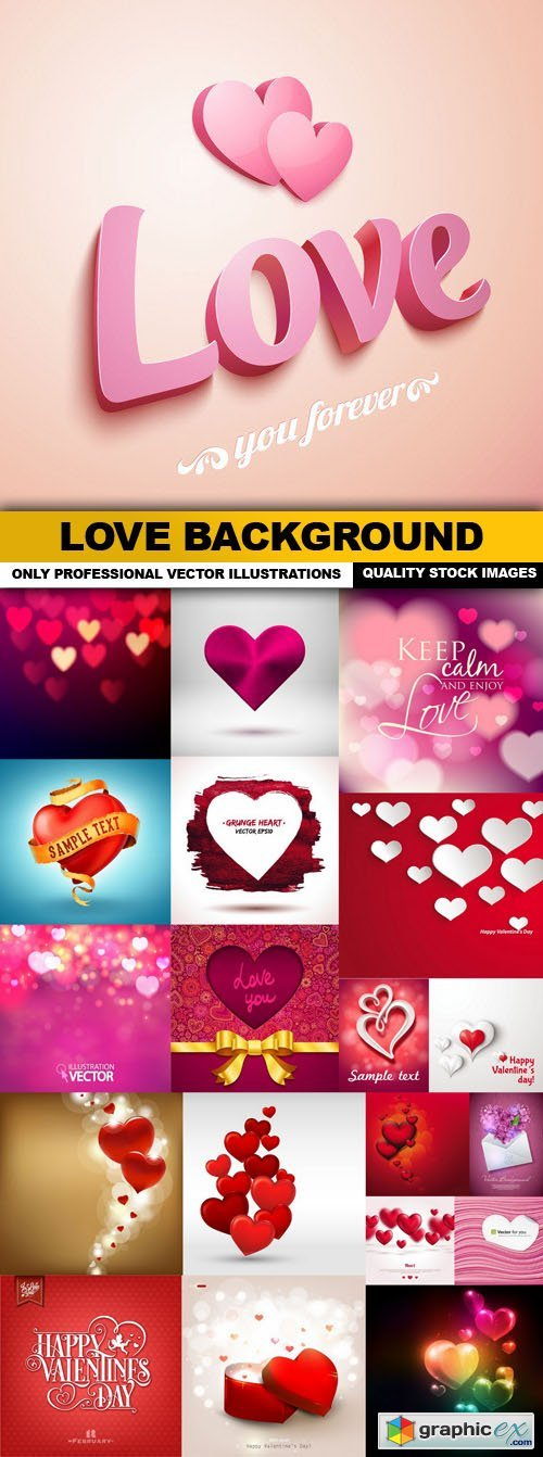 Love Background - 20 Vector