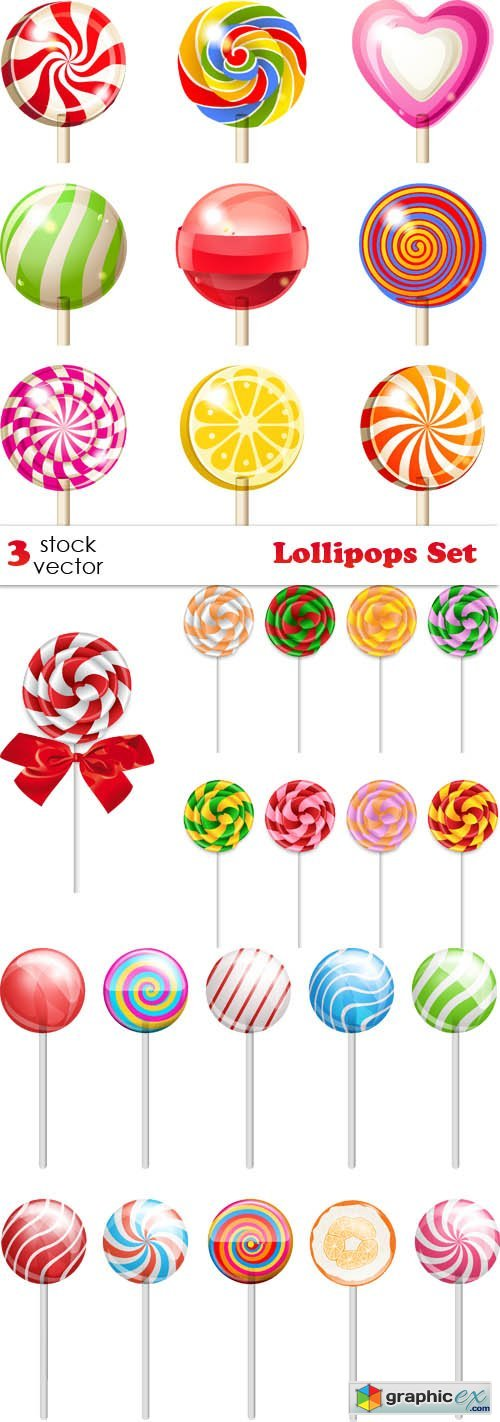 Vectors - Lollipops Set