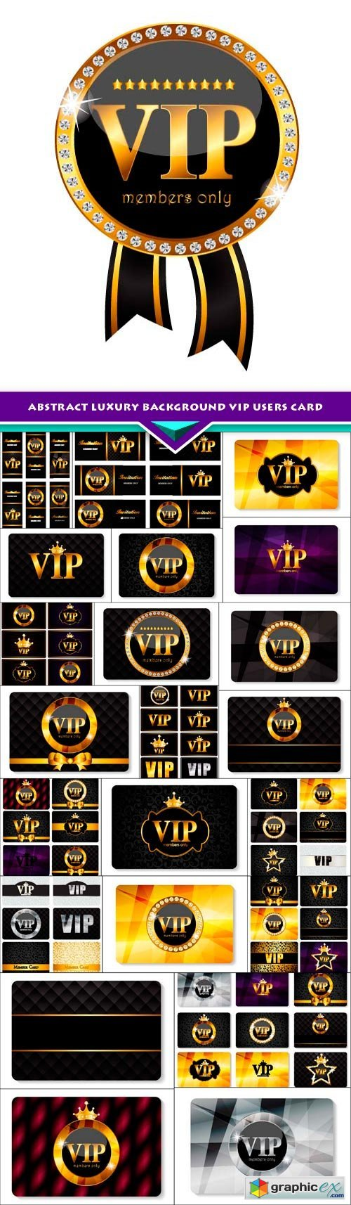 Abstract Luxury background VIP users card 23x EPS