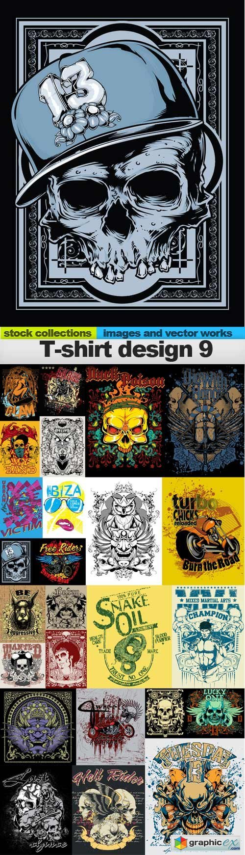 T-shirt design 9, 25 EPS