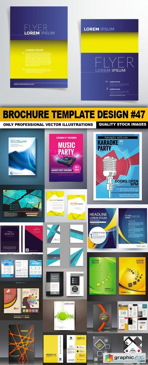Brochure Template Design #47 - 20 Vector