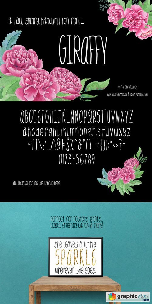 Giraffy - Handwritten Tall Font 370021
