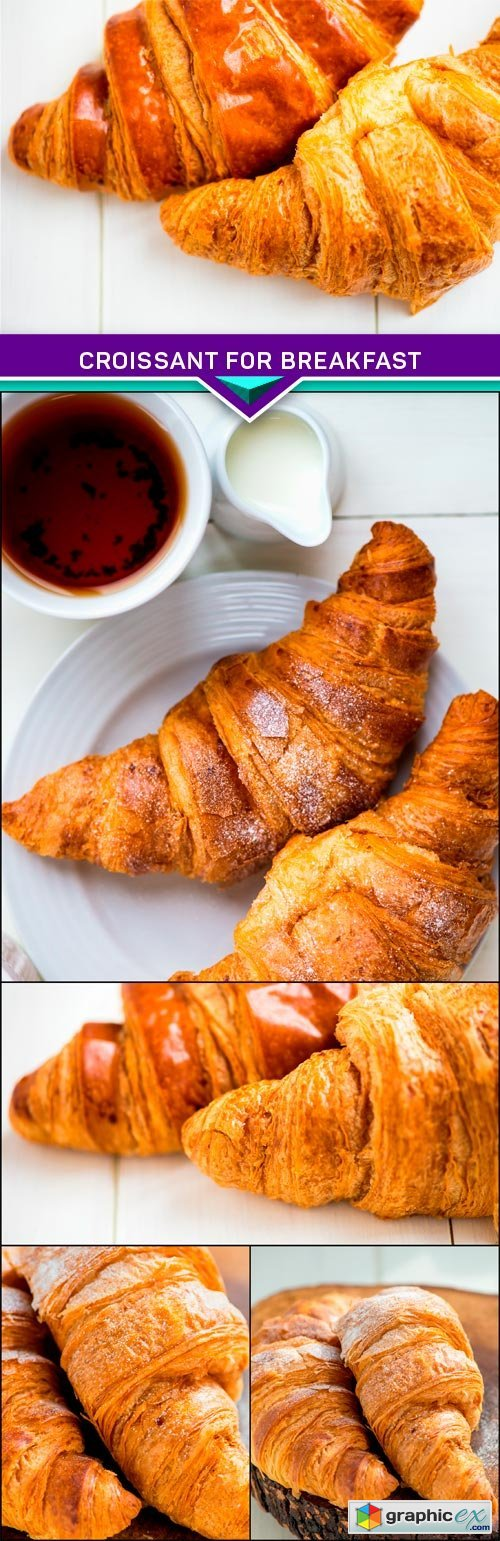 Croissant for breakfast 5x JPEG