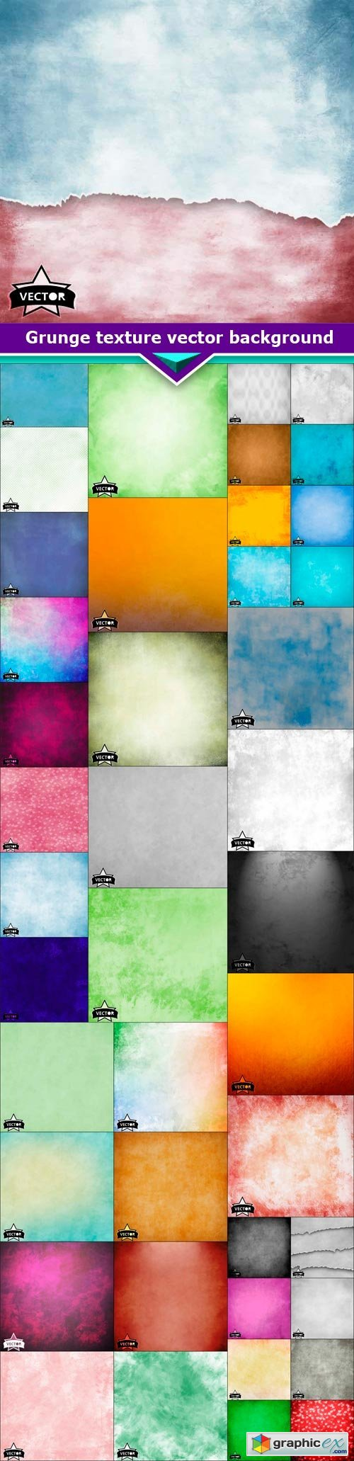 Grunge texture vector background 43x EPS
