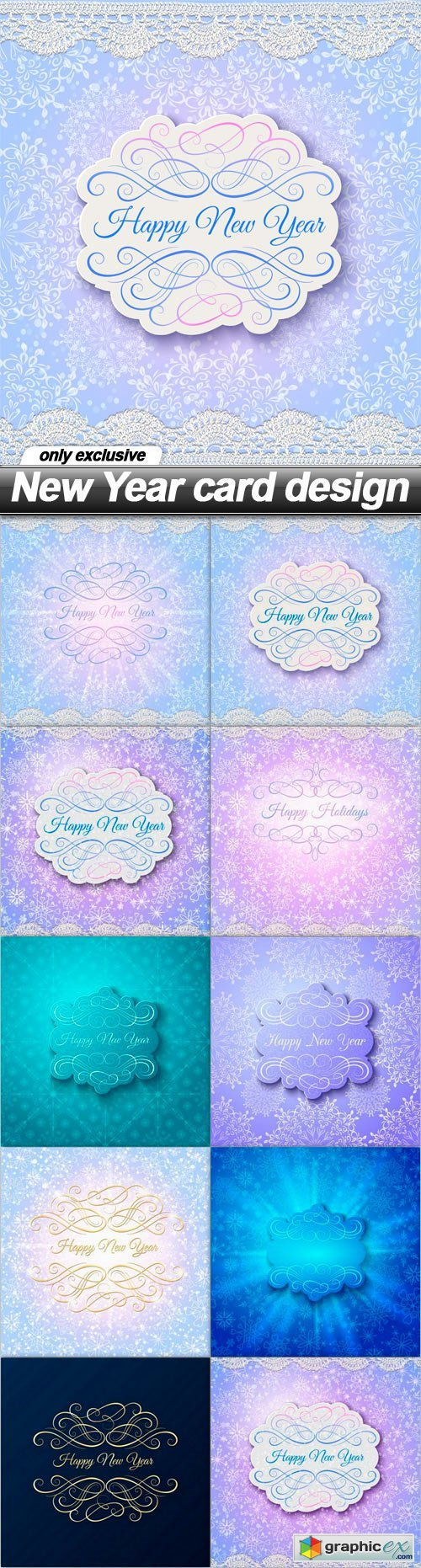New Year card design - 10 EPS