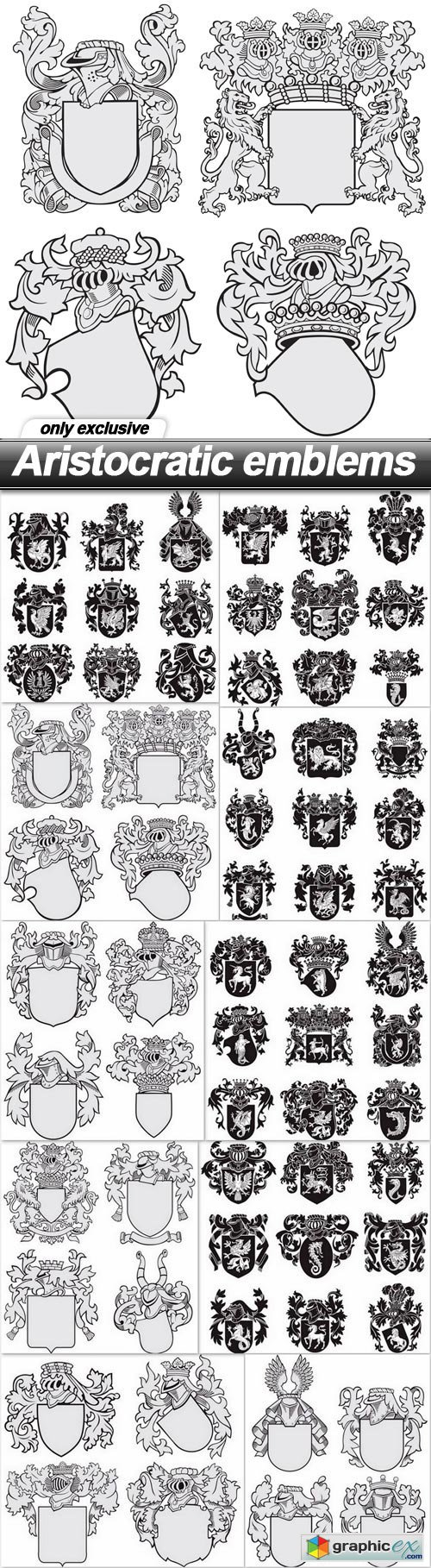 Aristocratic emblems - 10 EPS