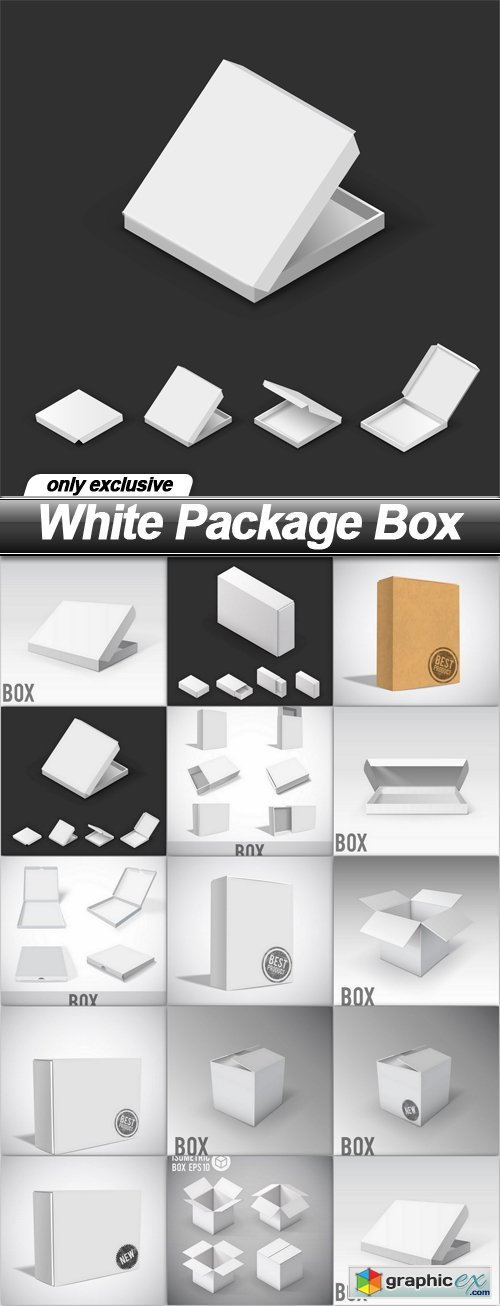 White Package Box - 14 EPS