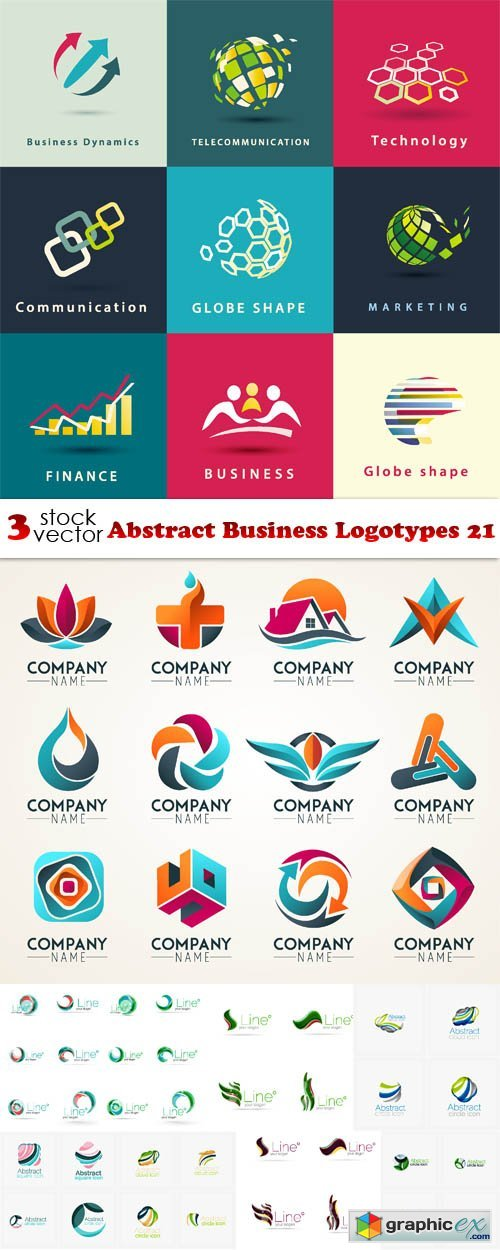 Vectors - Abstract Business Logotypes 21