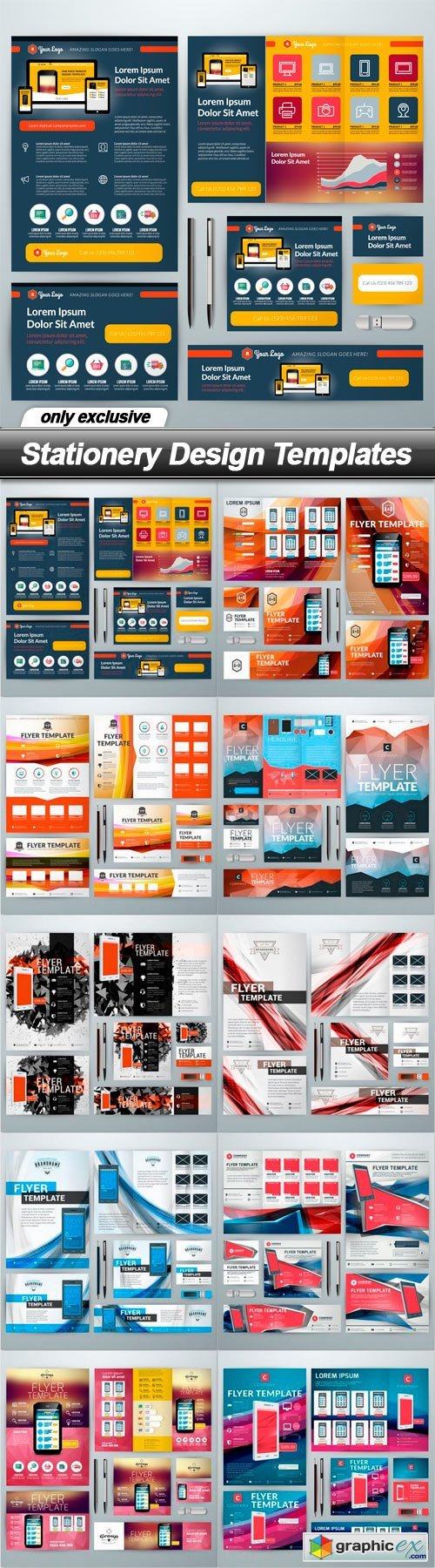 Stationery Design Templates - 10 EPS