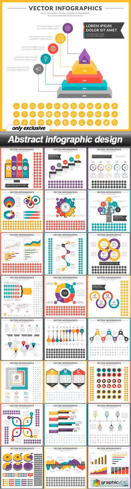 Abstract infographic design - 25 EPS