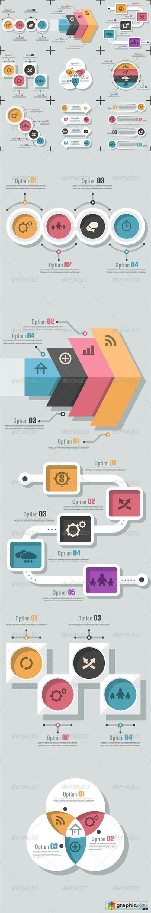 Graphicriver Set Of 9 Flat Infographic Options Templates 6980489