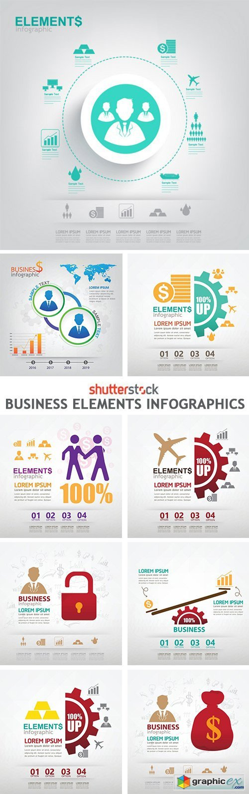 Business Elements Infographics - 13xEPS