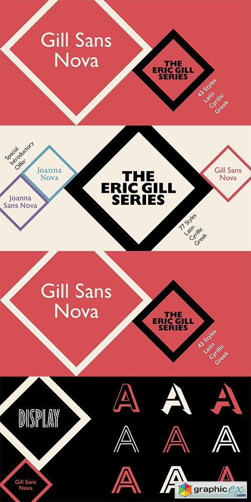 Gill Sans Nova Font Family - 43 Fonts » Free Download Vector