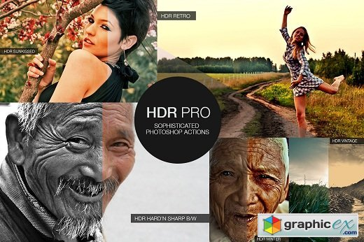 HDR PRO Sophisticated Photoshop Actions