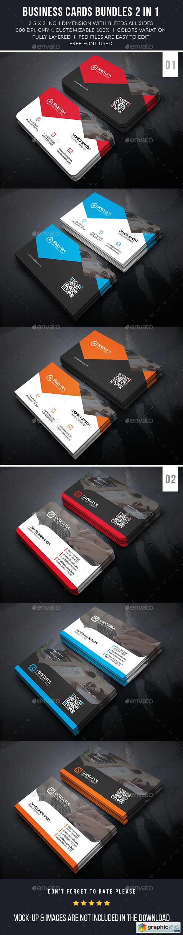 Professional Business Cards Bundle